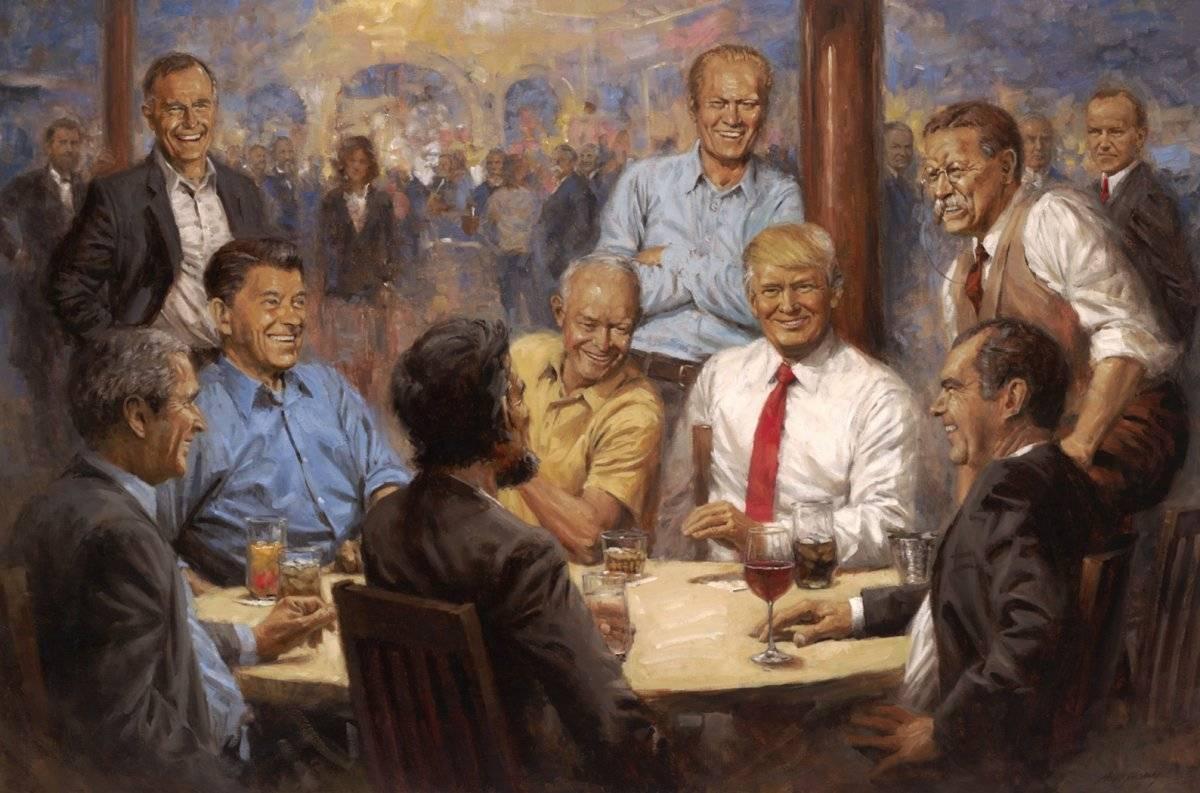 Pintura Trump