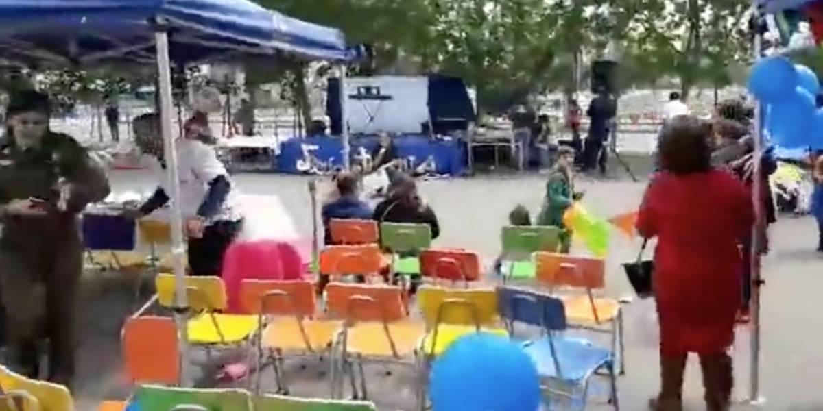 Graban balacera en vivo cerca del Cesfam de Bajos de Mena: presencia de niños en cercanías desató el caos