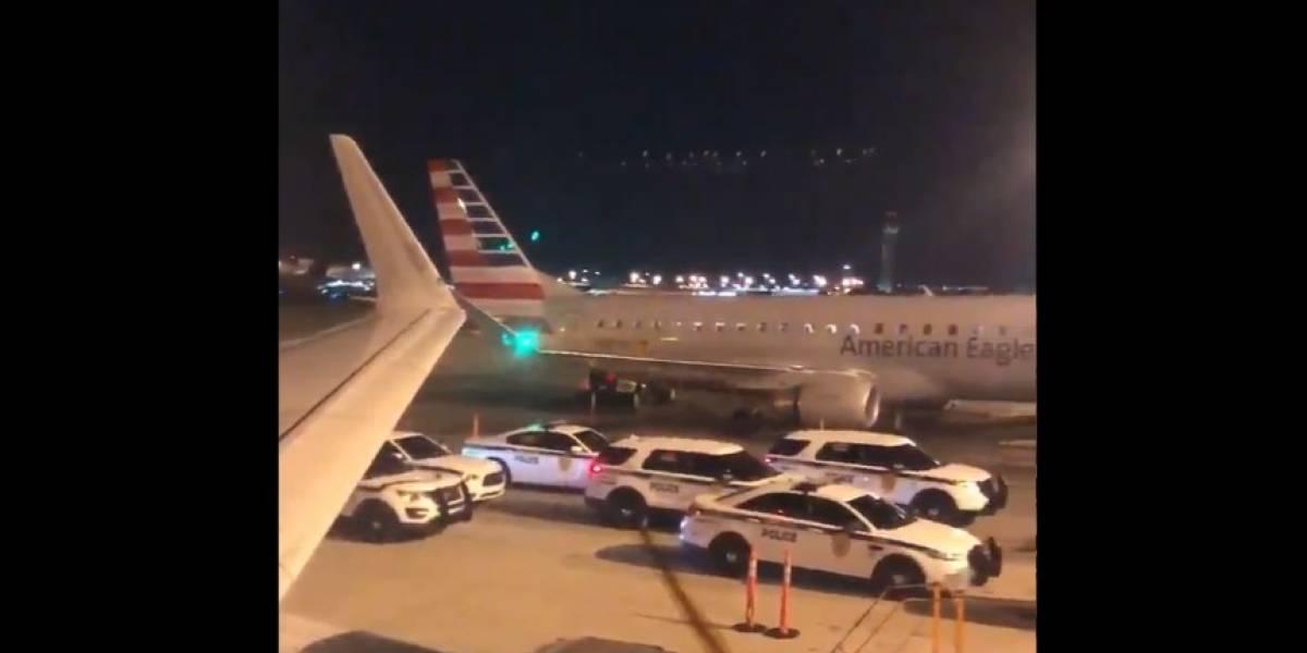 Evacúan avión que tenía como destino la CDMX por 'problemas de seguridad'