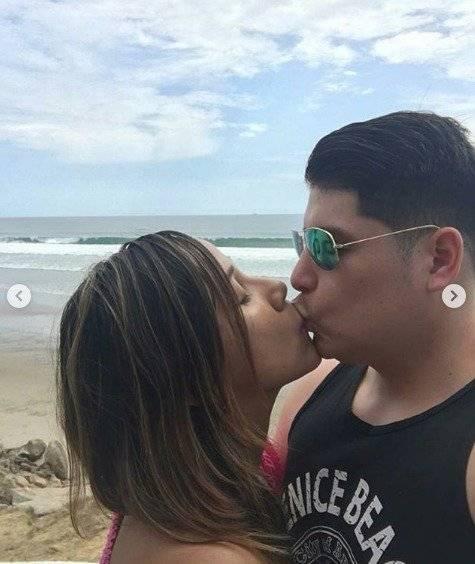 Exjueza Lorena Collantes y su novio Instagram