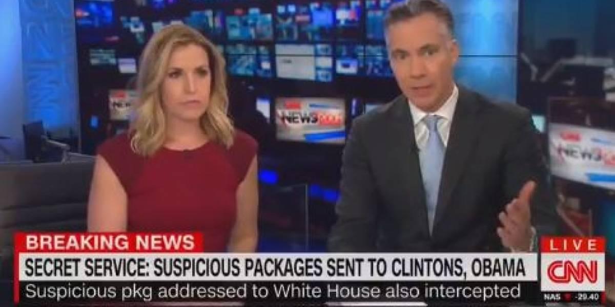 La increíble reacción de dos periodistas de CNN en vivo cuando sonó la alerta de bomba en su sede en Nueva York