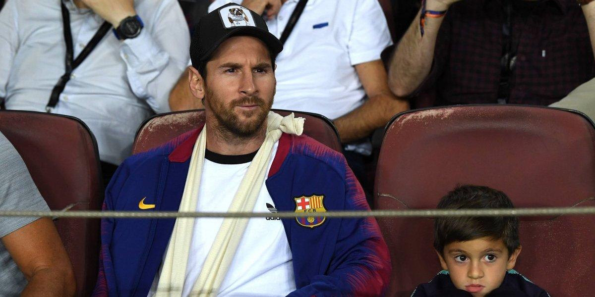 El mensaje que Messi envió tras vivir el partido ante el Inter desde las gradas