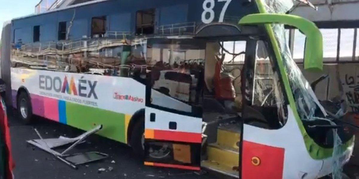 Concesionaria de Mexibús cubrirá gastos de lesionados por choque en Ecatepec