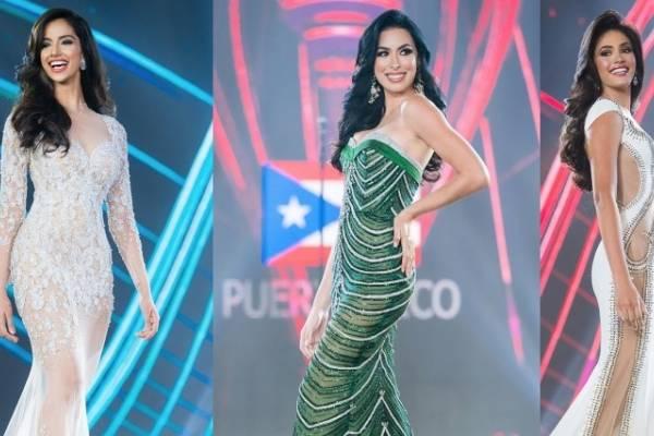 Miss Grand India (izquierda), Miss Grand Puerto Rico (centro) y Miss Grand Venezuela.