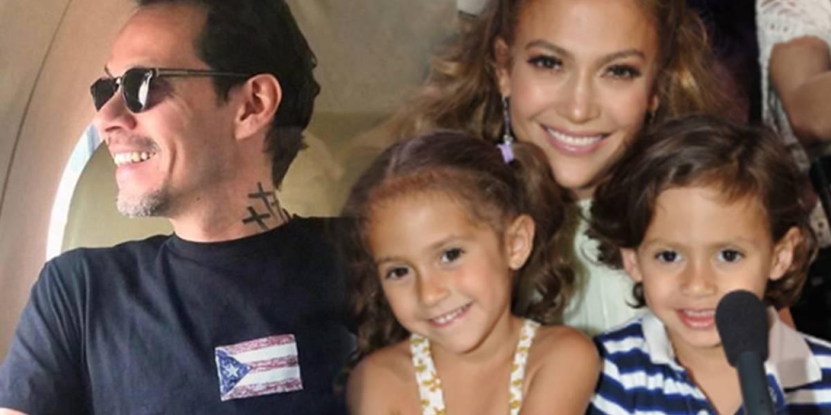 La foto que prueba que el hijo de Jennifer López es el clon de Marc Anthony