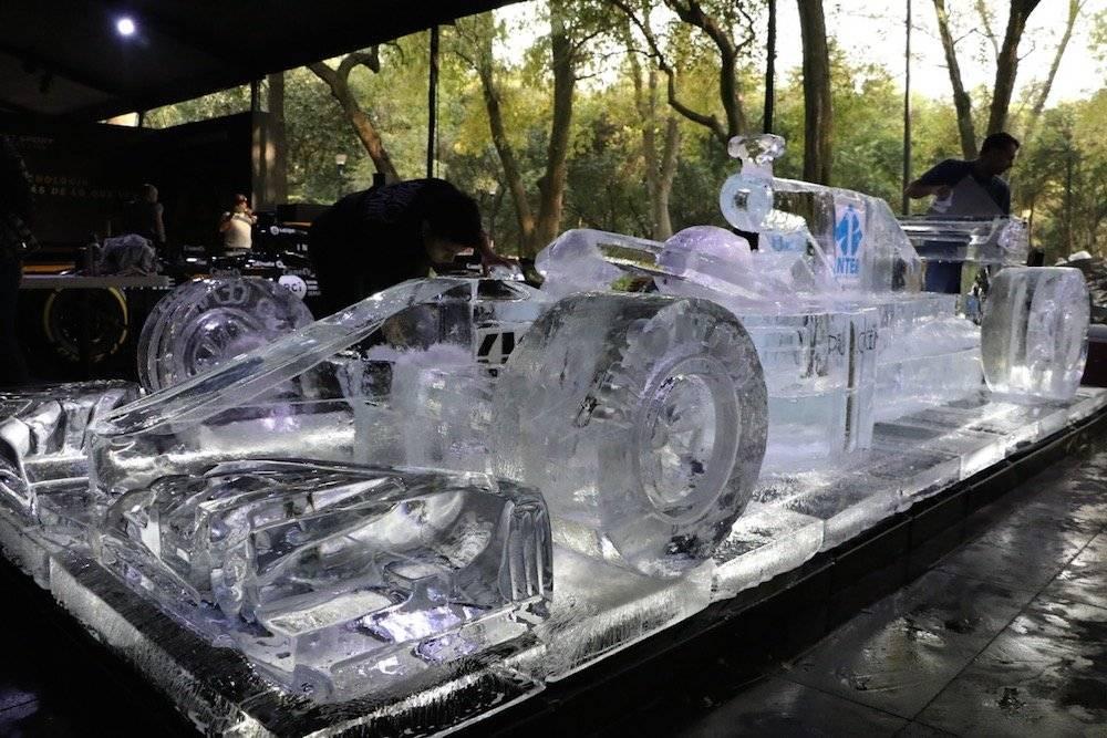 La pieza de hielo es impresionante. / Carmen Ortega / Publimetro