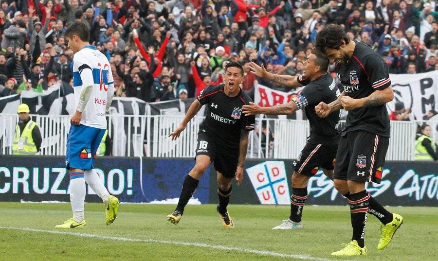 Vilches tiene mayor experiencia en clásicos que Munder. De hecho por Colo Colo le anotó a la UC / Foto: Agencia UNO
