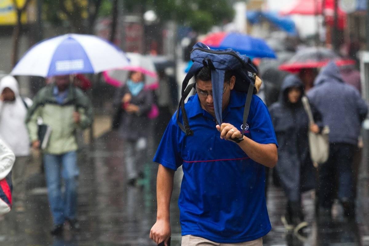 Lluvias en la capital del país Foto: Cuartoscuro