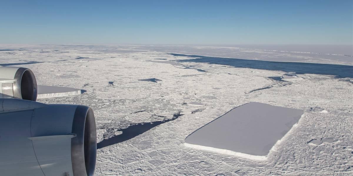 NASA descubre un increíble iceberg rectangular perfecto