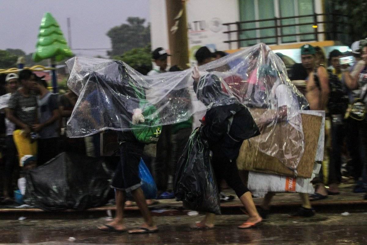 Caravana de hondureños rumbo a Mapastepec Foto: Cuartoscuro