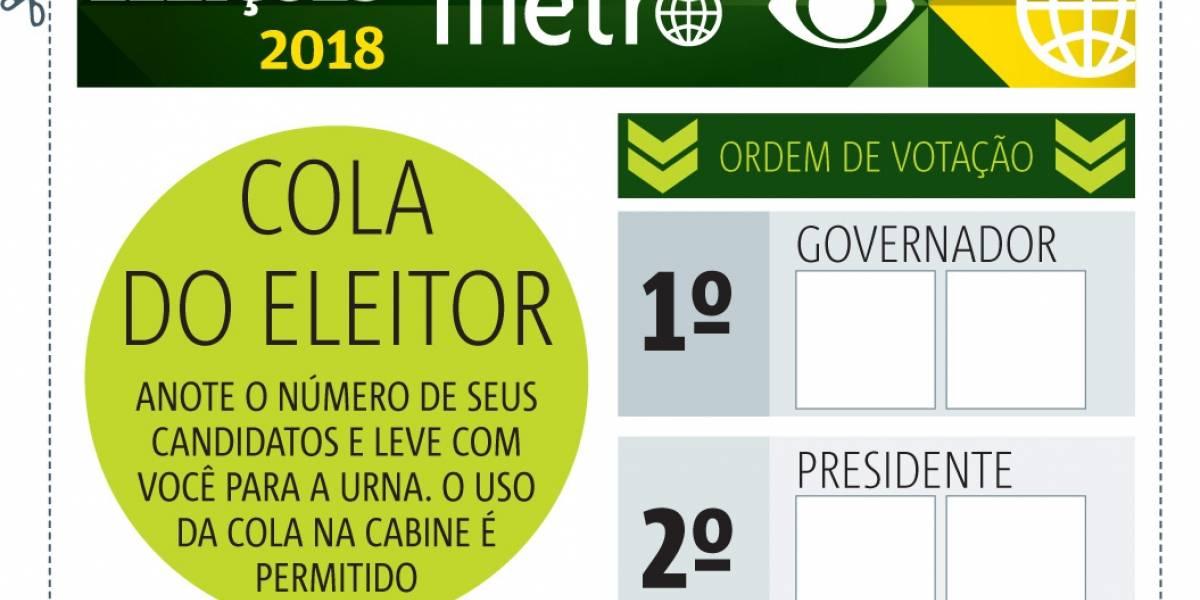 Eleições 2018: imprima a cola para votar neste domingo