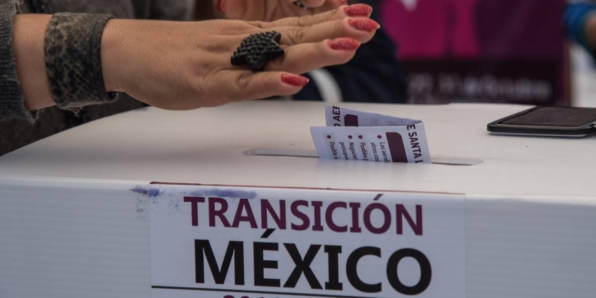 Página de México Decide falla en primer día de consulta del NAIM