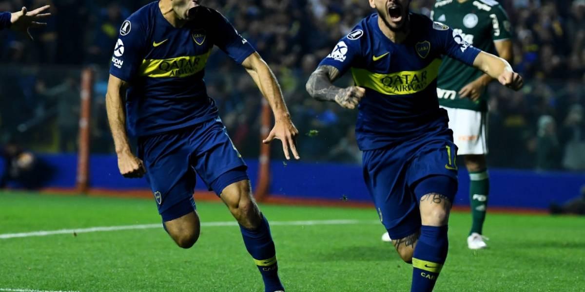 Boca Juniors da un golpe casi de nocaut a Palmeiras y quedó a un paso de la final de Copa Libertadores