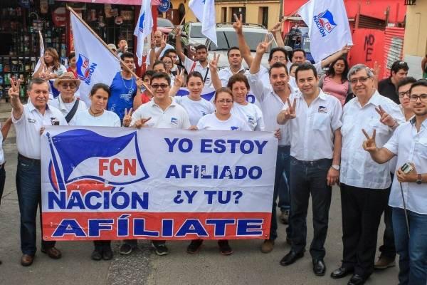 Jimmy Morales en campaña