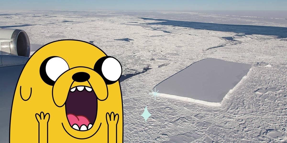 NASA descubre otro iceberg rectangular perfecto en la Antártida