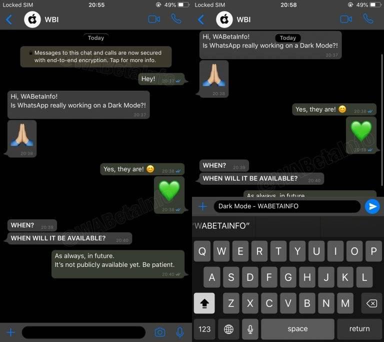 WhatsApp tendrá un nuevo tema oscuro y por fin han salido más detalles