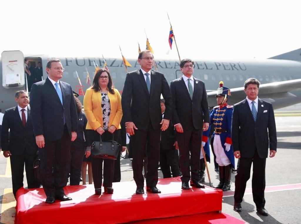 visita del presidente de Perú, Martín Vizcarra Twitter