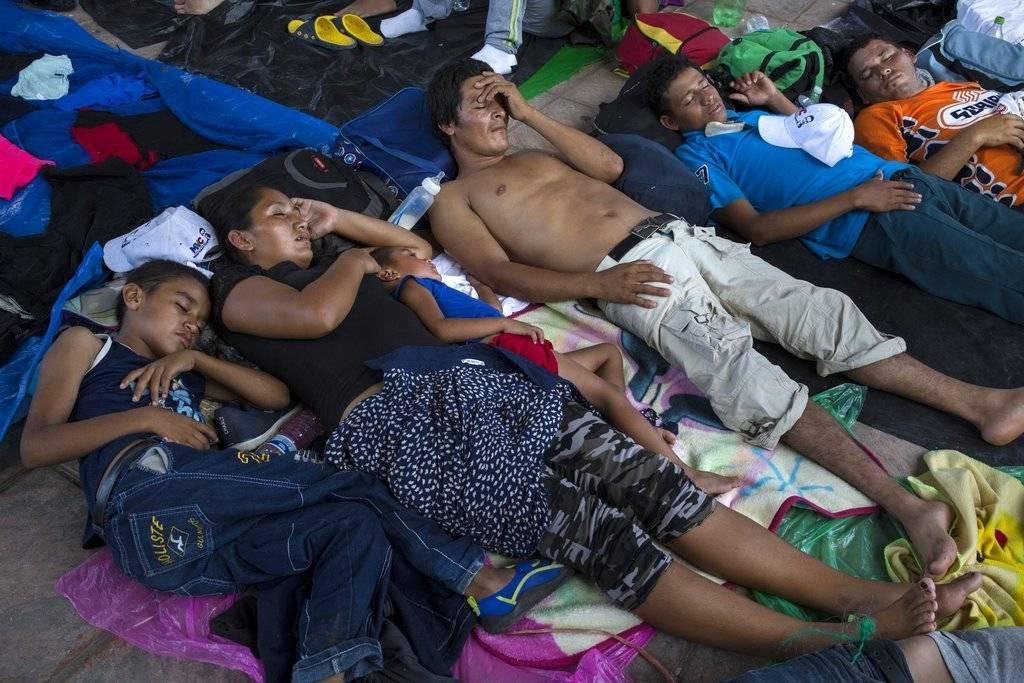 La caravana descansa Pijijiapan, México