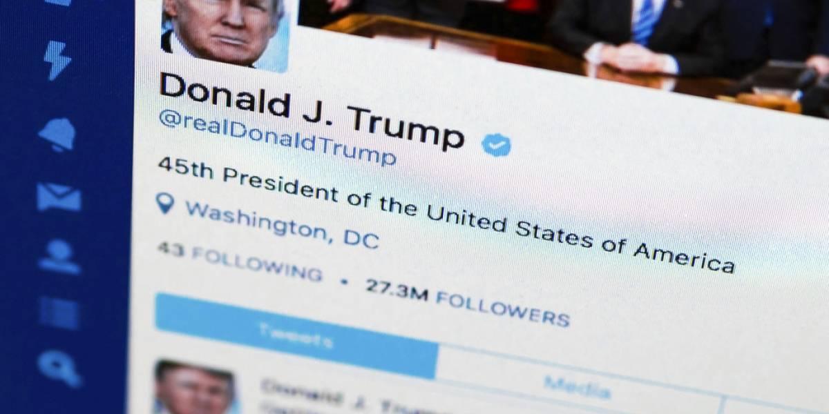 """Trump dice que Twitter removió """"mucha gente"""" de su cuenta"""