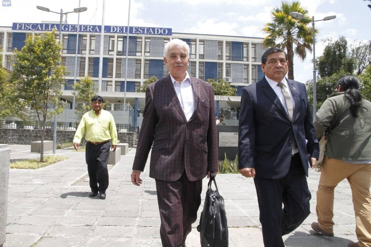 Galo Chiriboga explicó en Fiscalía supuesta apropiación de una casa