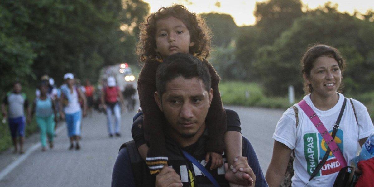 Caravana Migrante inicia recorrido de 96 kms hacia Arriaga, Chiapas