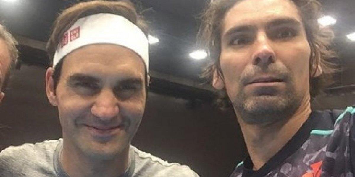 Julio Peralta preparó su semifinal de dobles en Basilea con un tal Roger Federer