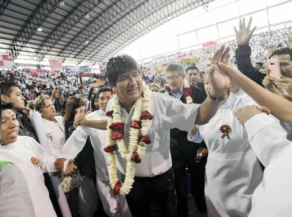 Evo Morales, presidente de Bolivia Foto: Twitter @evoespueblo