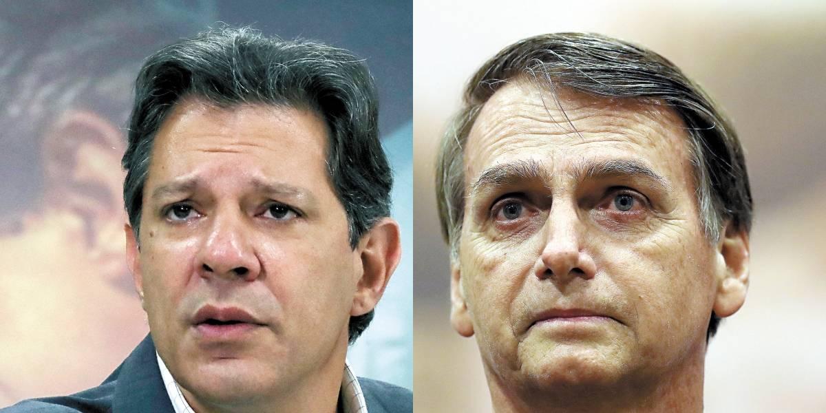 Ação de Bolsonaro contra Haddad em 2018 é descartada por falta de provas
