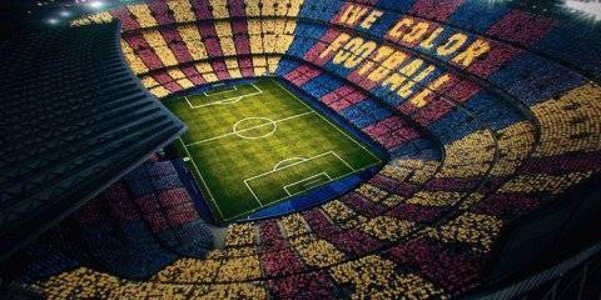 VIDEO: El increíble mosaico con el que el Barça recibirá al Real Madrid