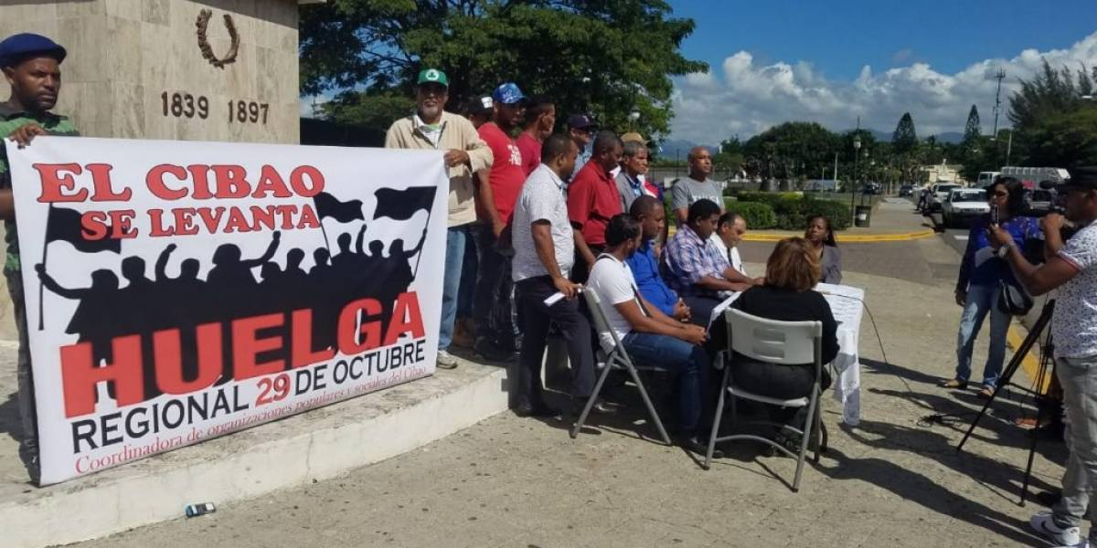 El MPD llama población apoyar huelga del próximo lunes en el Cibao