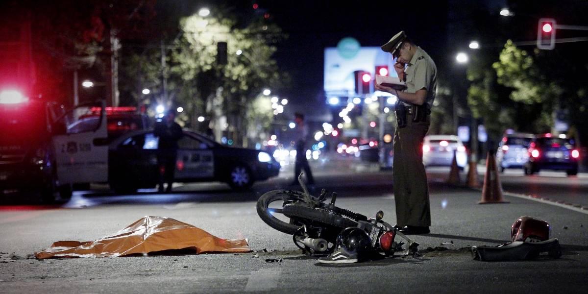 Motociclista muere en accidente huyendo tras robar cerca de 3 millones de pesos