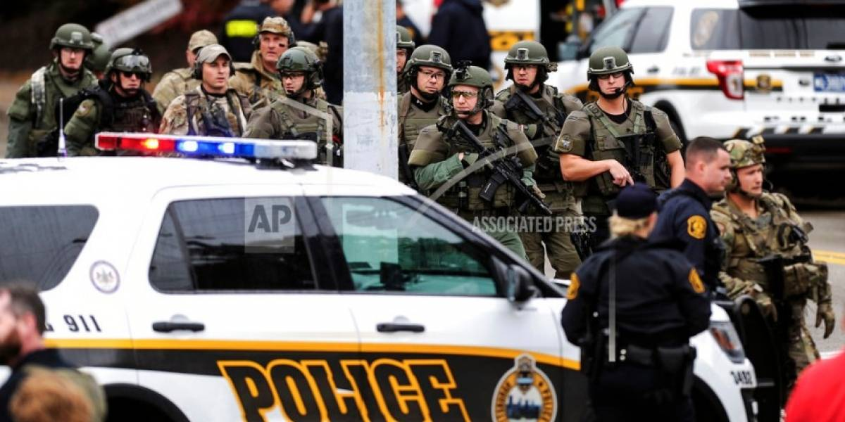Autoridades confirman 10 muertos en tiroteo en sinagoga de Pensilvania