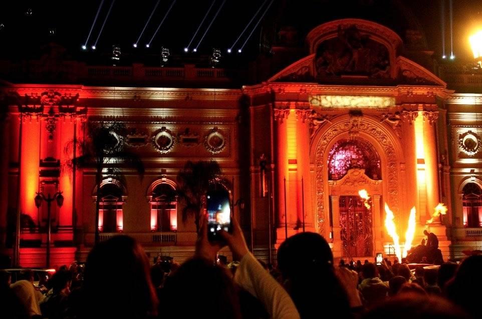 Así se ve el espectáculo en el Museo de Bellas Artes. Foto: Jaime Liencura / Publimetro