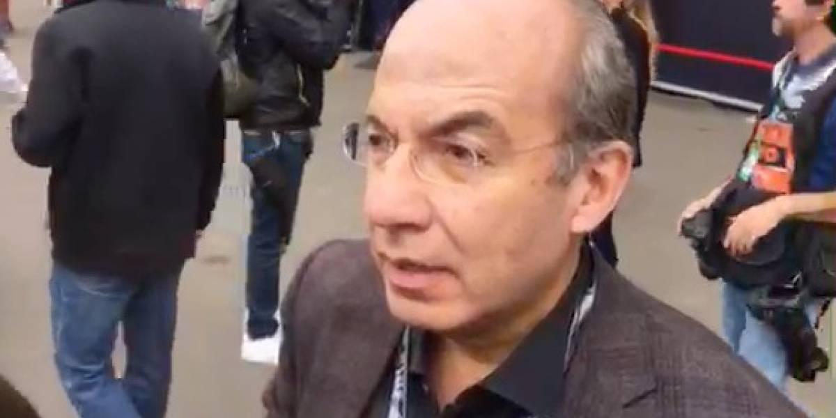 'Queremos que Checo dé la sorpresa': Felipe Calderón