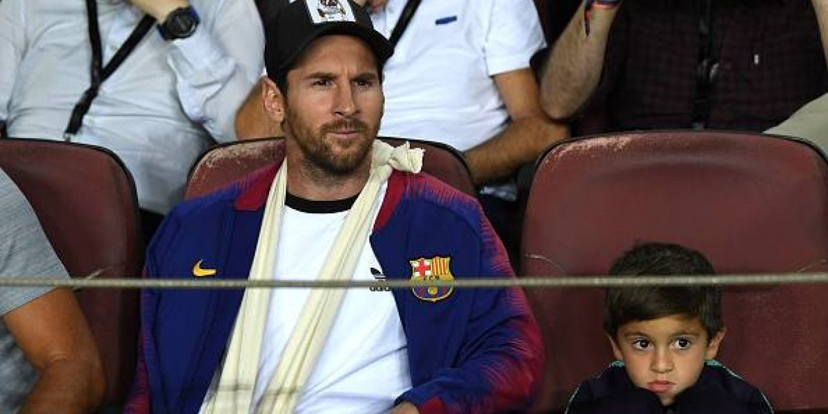 El inusual regalo que le hizo el hijo de Messi a su padre