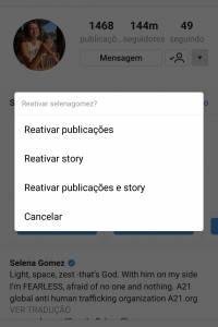 Instagram - Silenciar
