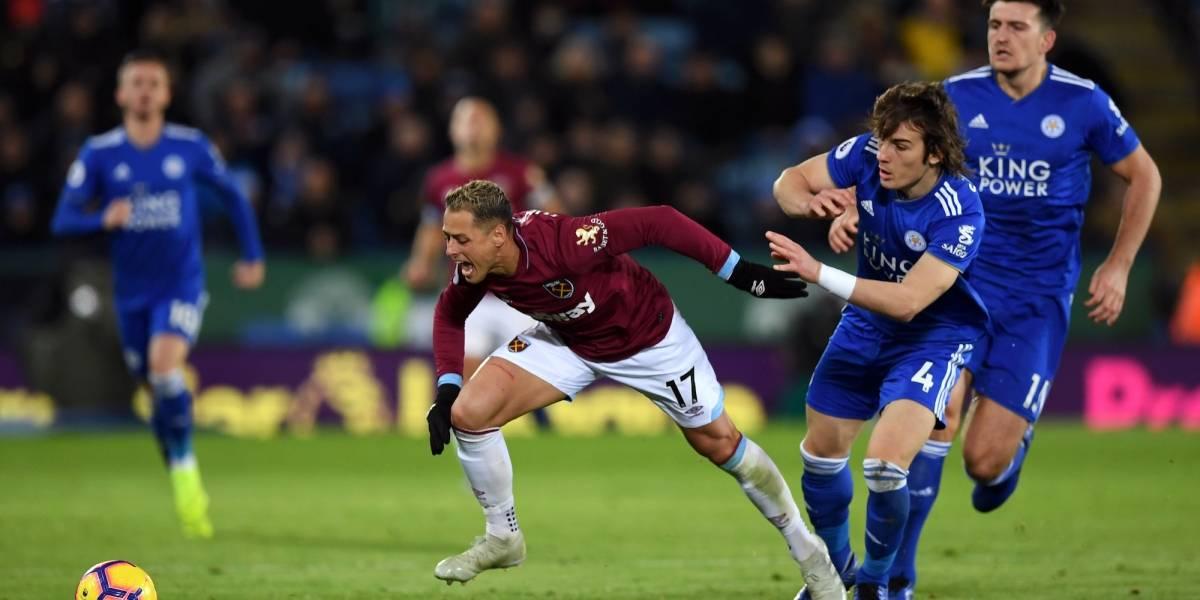 Con Chicharito de titular, West Ham se dejó empatar por Leicester