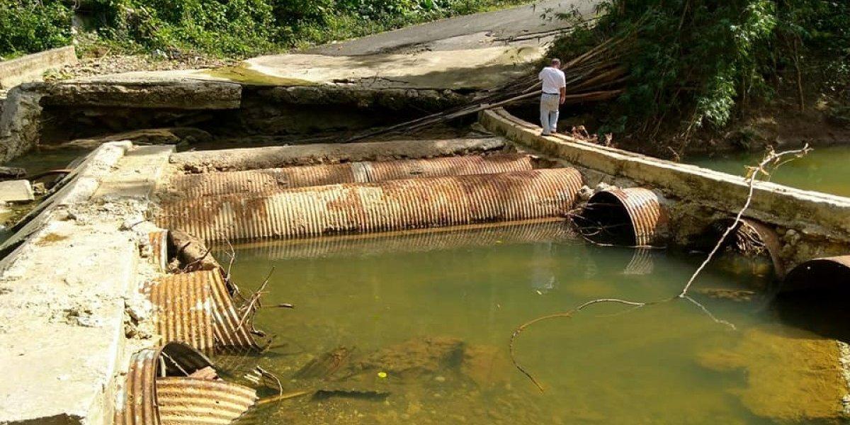 Comunidad de San Sebastián sigue esperando reparación de puente