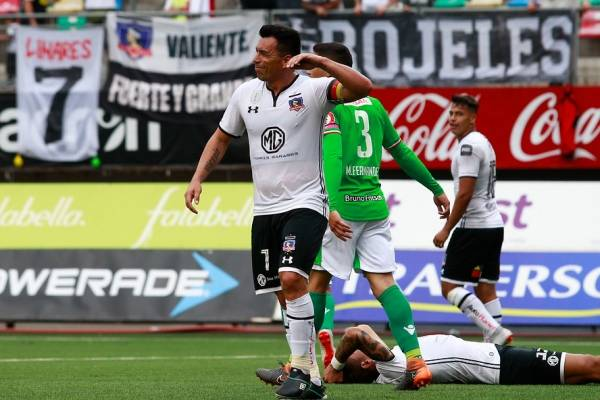 Esteban Paredes anotó y salió lastimado en el amargo empate 1-1 de Colo Colo ante Audax / Foto: Agencia UNO
