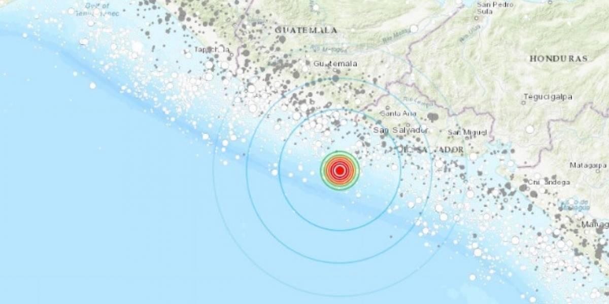 Sismo magnitud 6.1 sacude la costa de El Salvador