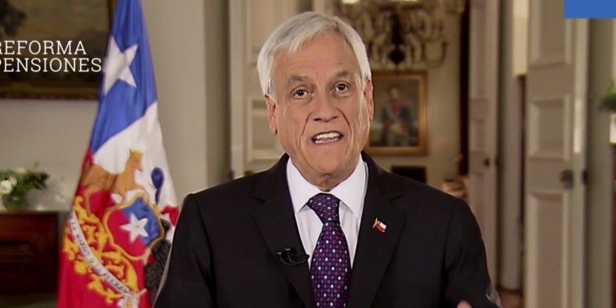 Con un incentivo para retrasar la edad de jubilación: Presidente Piñera anunció el plan del Gobierno para mejorar el sistema de pensiones