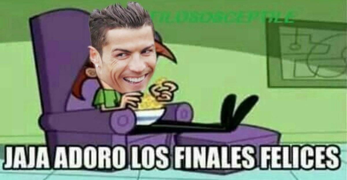 Hasta Ronaldo apareció en los memes