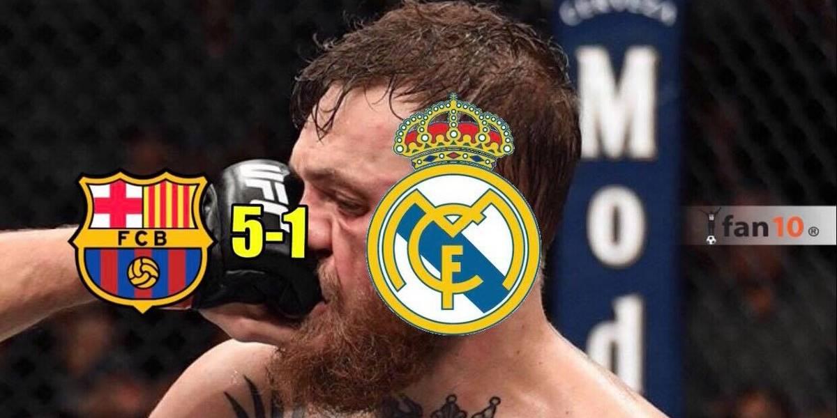 Las burlas hacia el Real Madrid tras ser goleados en el clásico contra el Barcelona