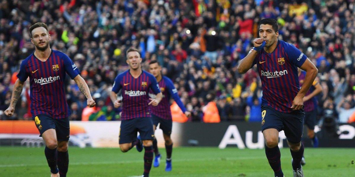 "Barcelona arrolla a un Madrid con ""hat-trick"" de Luis Suárez"