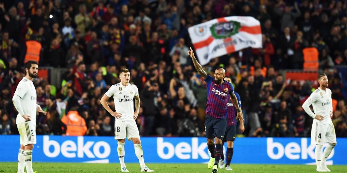 Vidal gritó su primer gol en el Barcelona y cerró la fiesta de Suárez en la manita sobre el Real Madrid