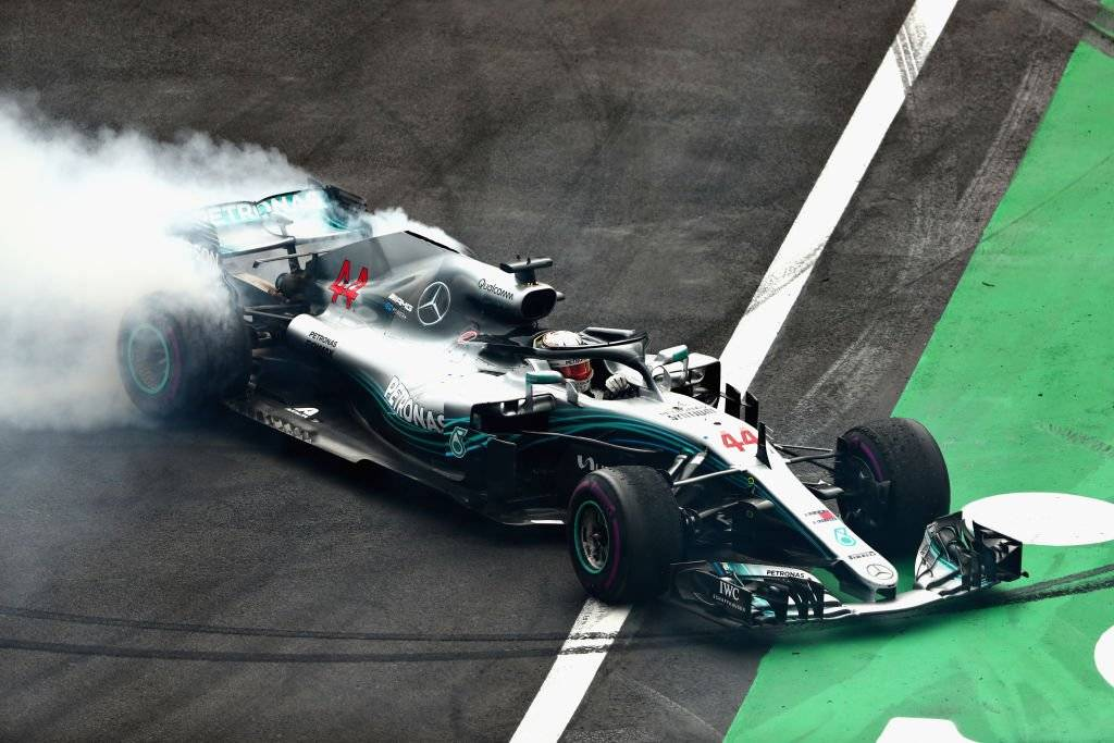 La vuelta 48 en el GP de México provocó susto en Hamilton / Foto: Getty Images