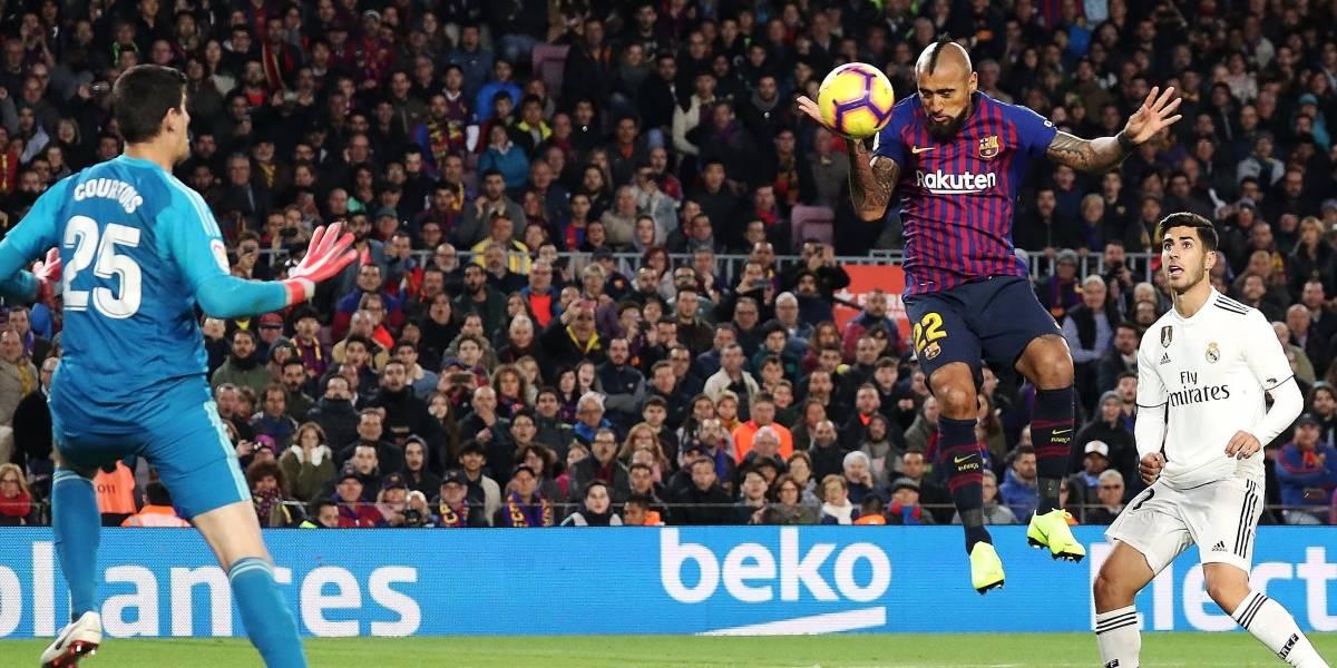 """Valverde quedó feliz con el gol de Vidal: """"Su lucha nos transmite mucho, es diferente a los otros"""""""