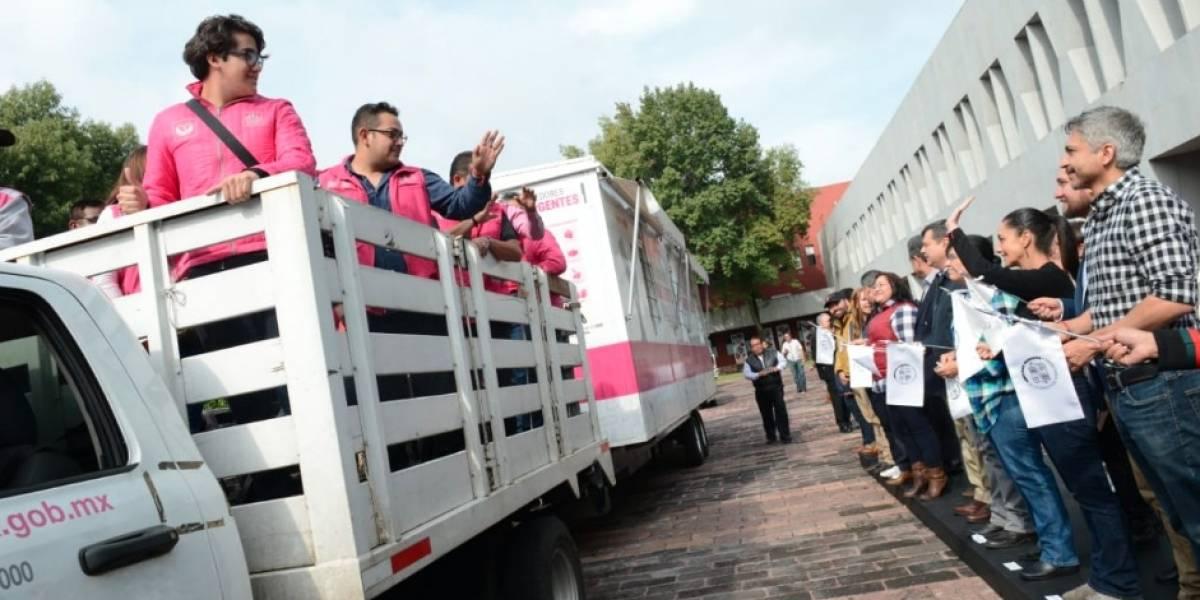 Dan banderazo de salida a Puente Humanitario en apoyo a caravana migrante