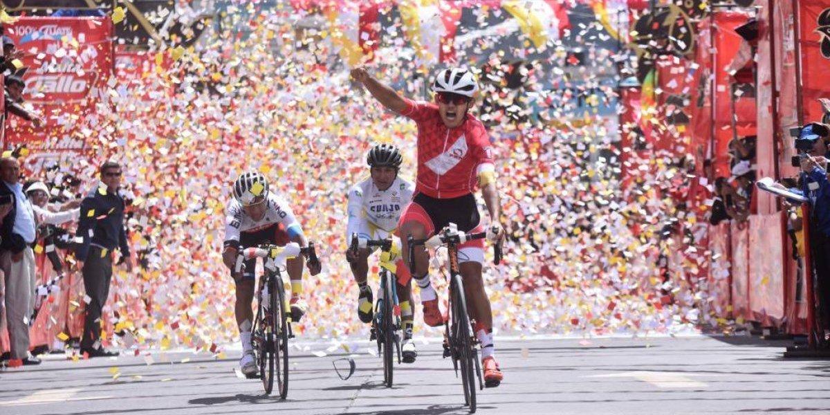 Ajpacajá celebra en su casa como el líder de la Vuelta