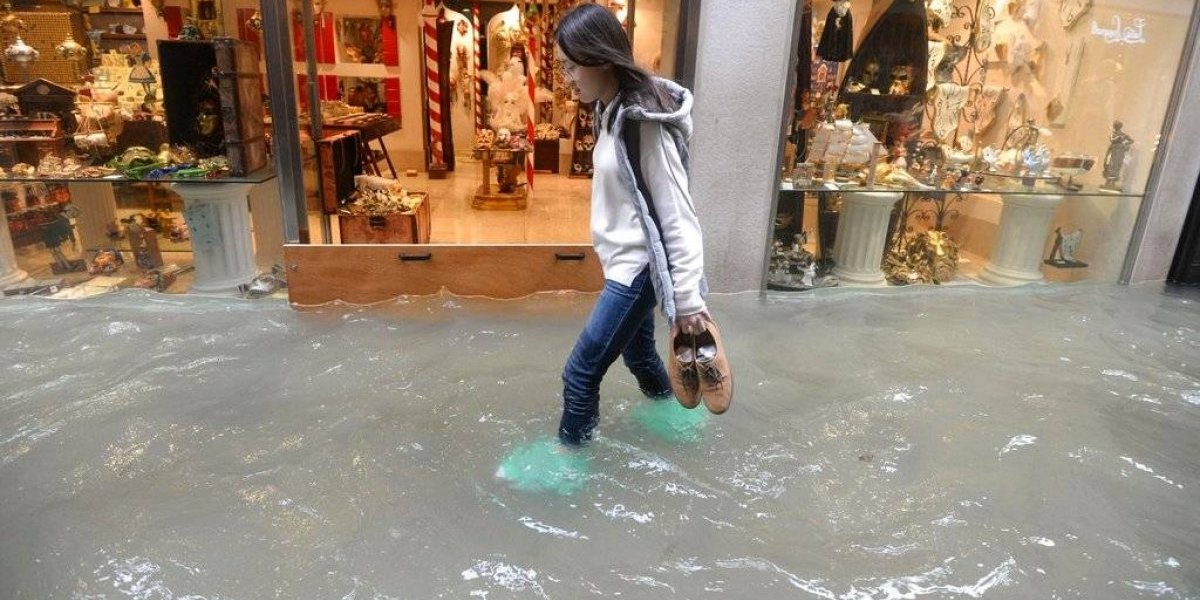 Inundaciones atípicas cubren un 70 % de Venecia